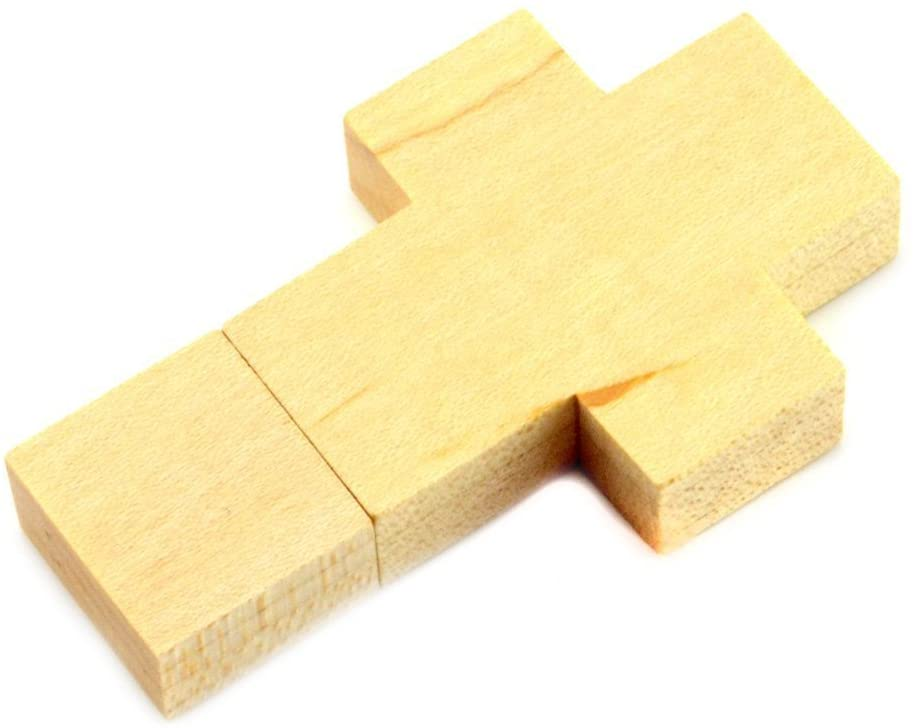WooTeck 32GB Wood Cross USB Falsh Drive Pendrive Memory Stick