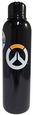 Just Funky Overwatch Stainless Steel Water Bottle Novelty Gift, 16 oz