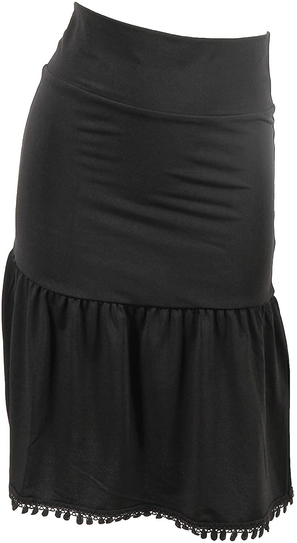 Peekaboo-Chic Poppy Half Slip Skirt Extender - Modest Skirt Extender - Skirt Extenders for Women