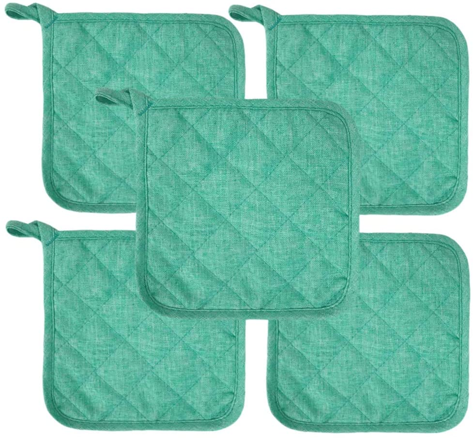 Lobyn Value Packs Potholders 10 Each Beach Themed Color Seafoam Green
