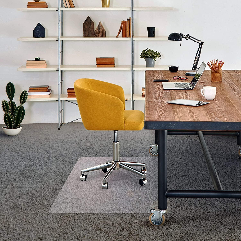 Vinyl Chair Mat for Standard Pile Carpet - Lipped Size 48
