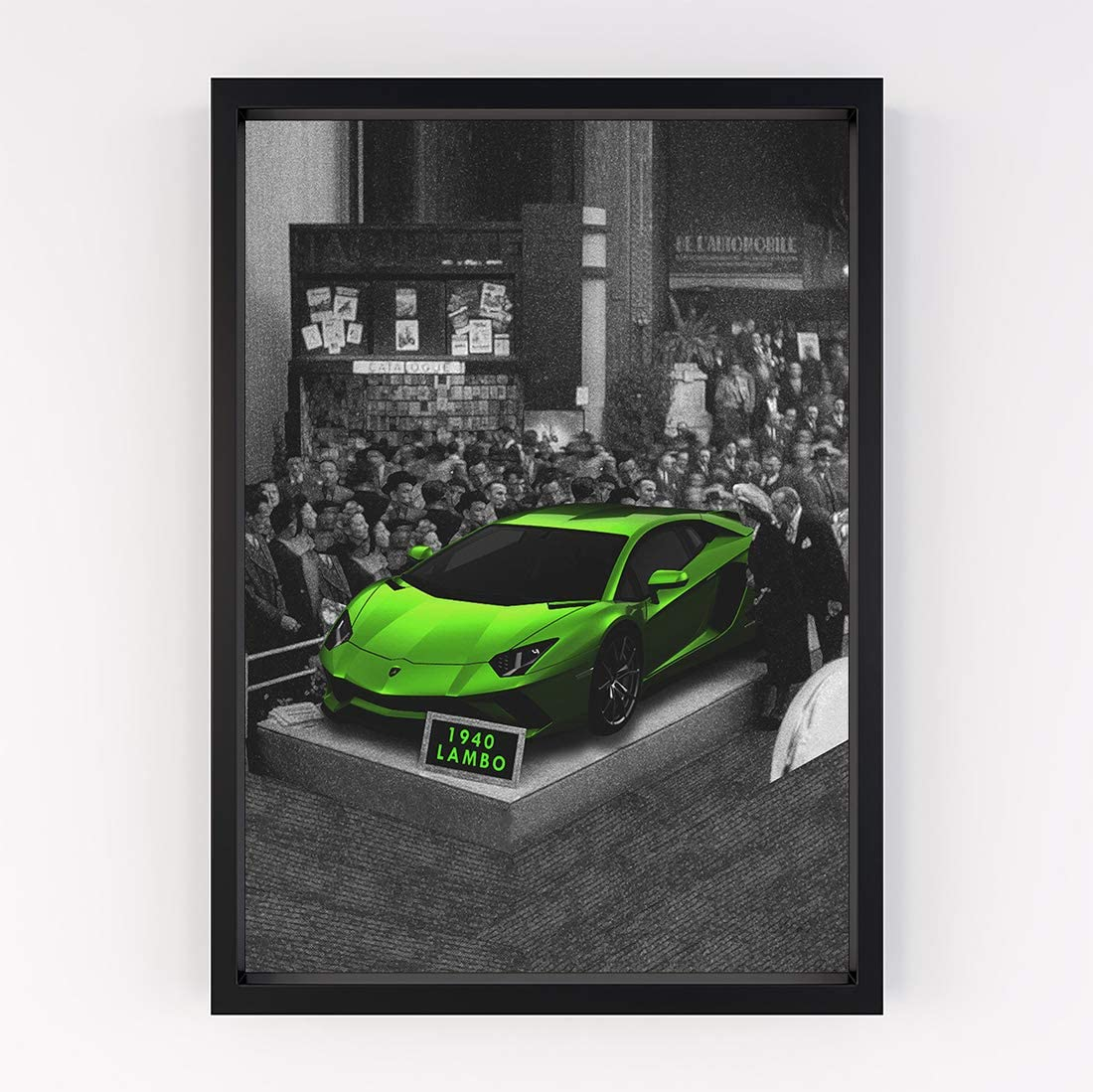 Fellipo Ricci Large Poster Artwork - 1940 Lambo Cool Wall Art Prints for Home Decor, Living Room, Office - Popular Museum Premium Quality Art On Poster Lamborghini Aventador Huracan (40