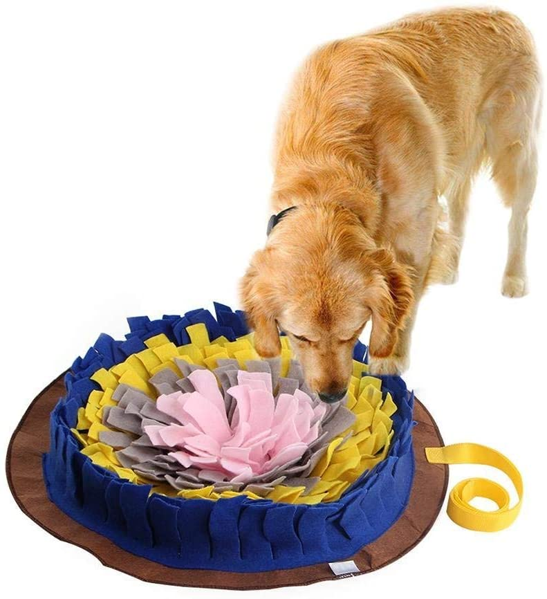 IFOYO Dog Feeding Mat, Dog Snuffle Mat Small/Large Dog Training Pad Pet Nose Work Blanket Non Slip Pet Activity Mat for Foraging Skill, Stress Release, (S, L, XL)