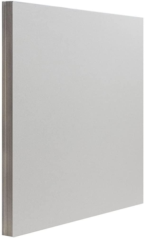 JAM PAPER Matte 28lb Paper - 8.5 x 11 - Light Gray - 50 Sheets/Pack