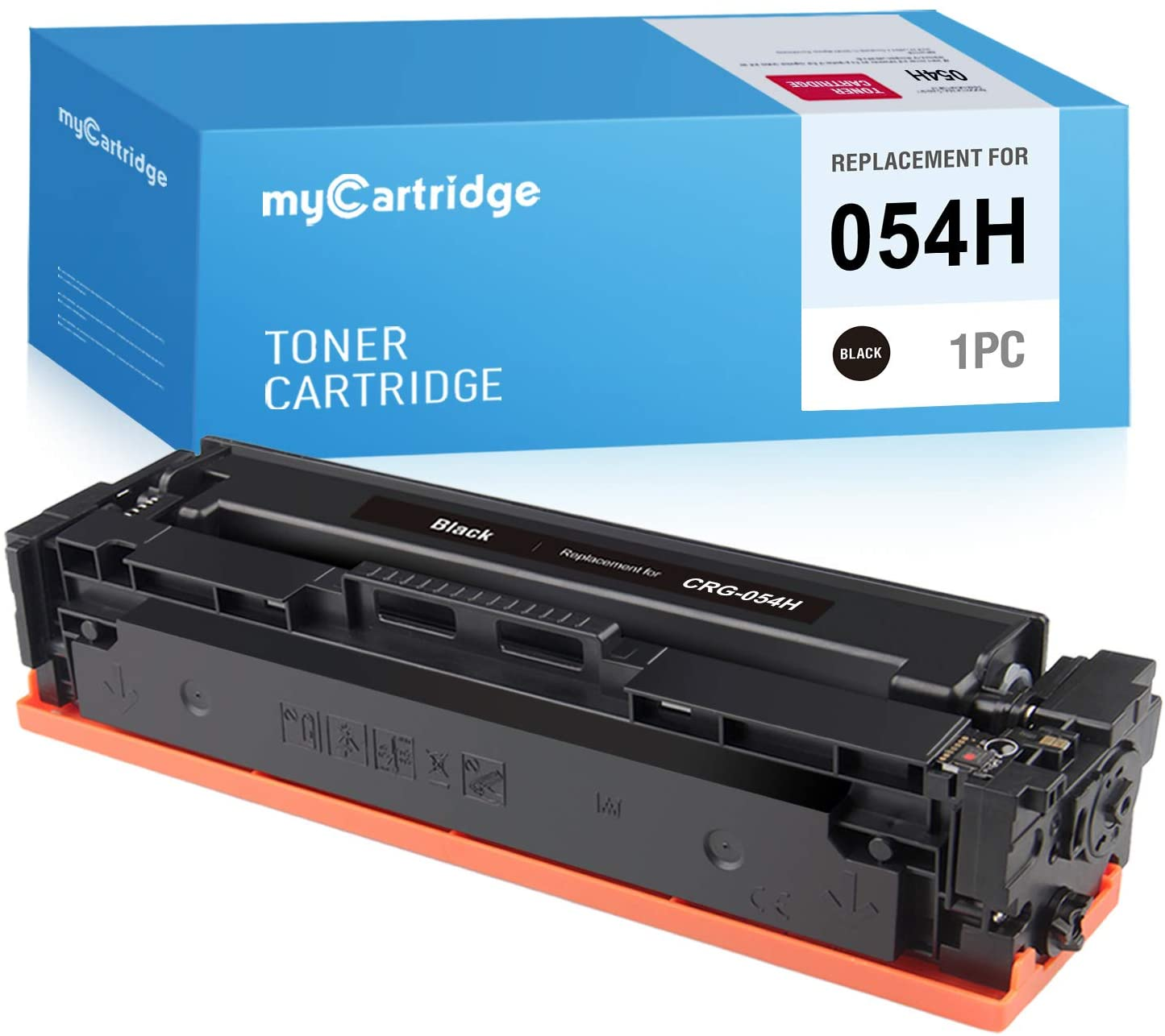 MYCARTRIDGE Compatible Toner Cartridge Replacement for Canon 054H CRG-054H 054 Use with Image Class MF644Cdw MF642Cdw MF640C LBP622Cdw LBP620 (Black, 1-Pack)