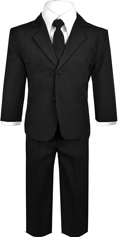 Black n Bianco Baby Boys' Formal 5 Piece Dress Suit