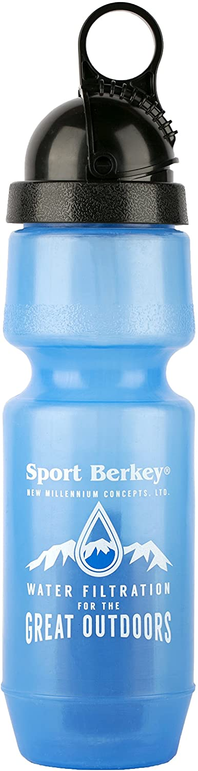 Berkey Sport Filtered Water Bottle BPA Free Portable 22oz New 2018 Model