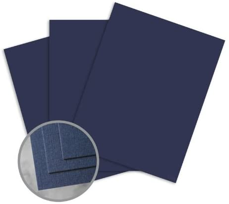 CLASSIC Linen Patriot Blue Card Stock - 18 x 12 in 100 lb Cover Linen Digital 30% Recycled 250 per Package