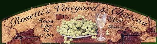 Rosetti's Vineyard and Chateau Custom Vintage Sign