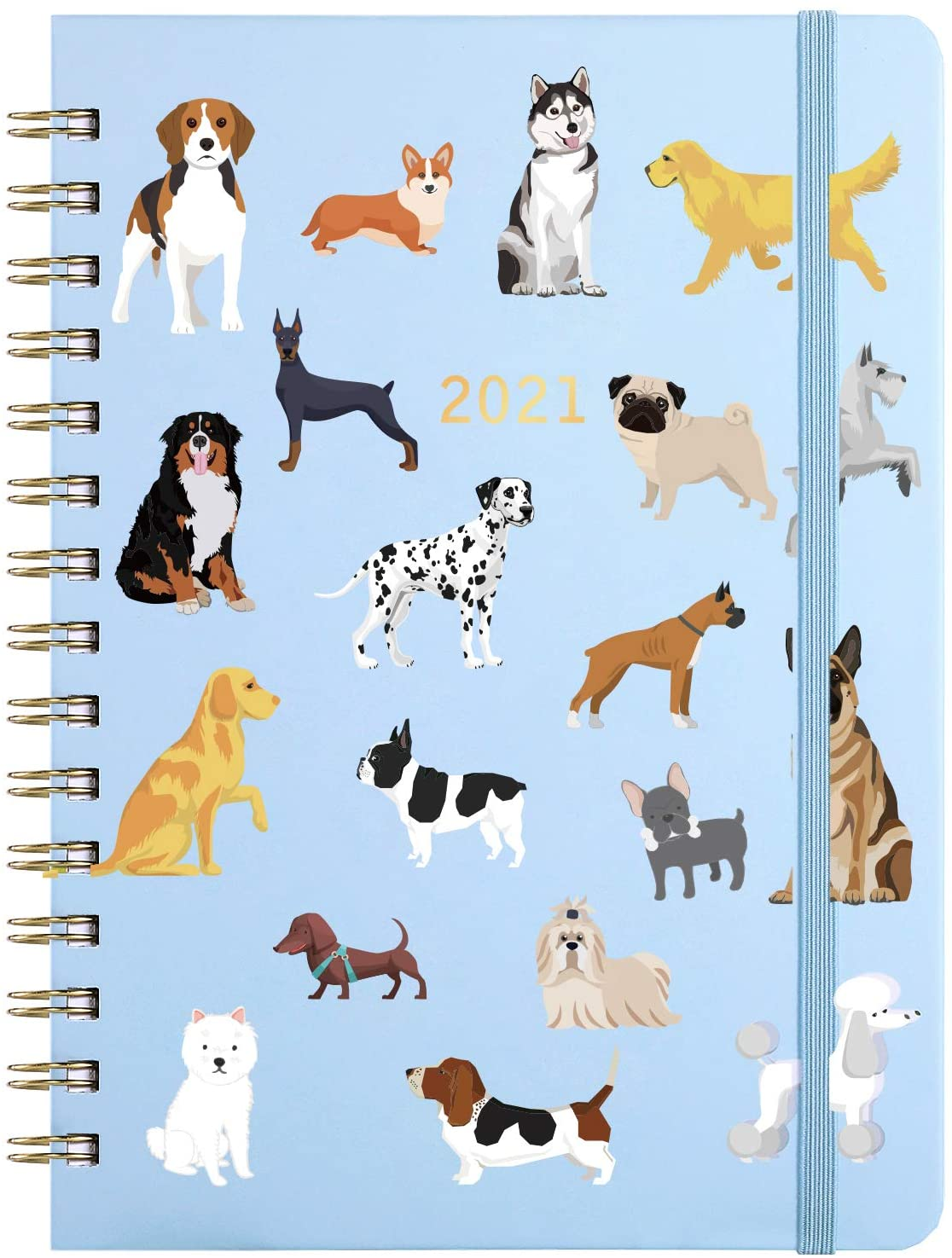 2021 Planner - Weekly & Monthly Planner with Tabs, 6.5