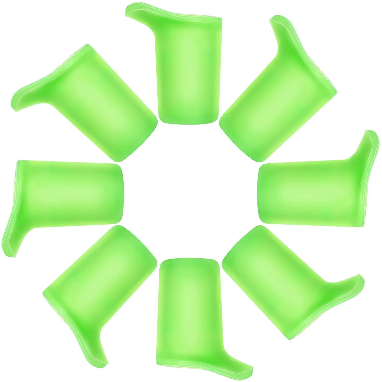 SINONIA Bottle Bite Valve Fit CamelBak Eddy+ and Groove Water Bottle (Bite Valves - 8Pack - Green)