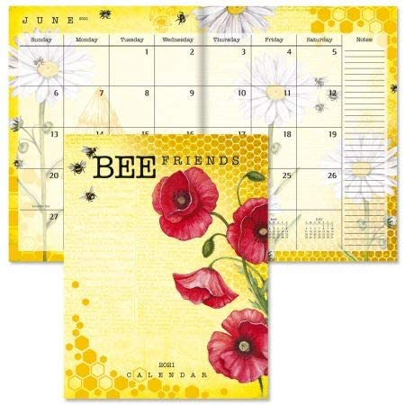 2021 Bee Friends Desk Planner - Monthly Calendar, 8-1/2