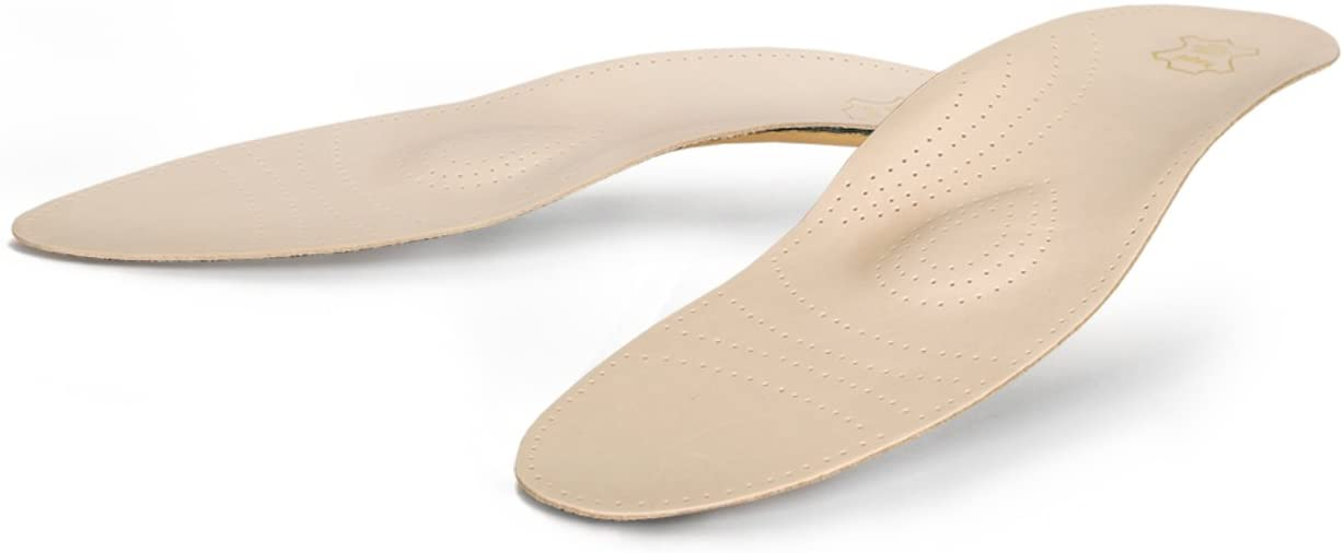 Finest Cowhide Orthotic Insoles with Metatarsal and Longitudinal Arch Support, Relax Limited Edition (Women/US 6/37 EUR)