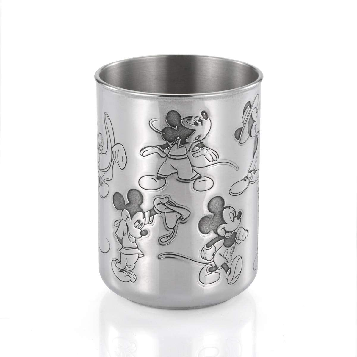 Royal Selangor Hand Finished Mickey 90th Anniversary Collection Pewter Mickey Through The Ages Tumbler