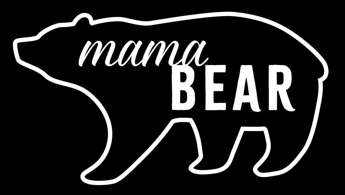Creative Concepts Ideas Mama Bear CCI Decal Vinyl Sticker|Cars Trucks Vans Walls Laptop|White|5.5 x 3.0 in|CCI2384