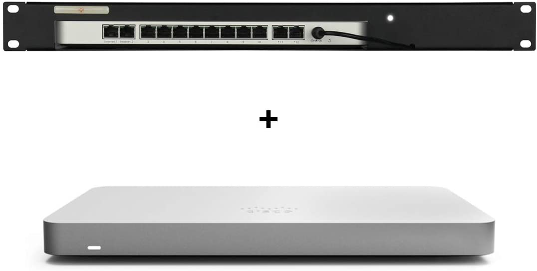 Rackmount RM-CI-T6 w/Meraki MX68 Cloud Managed Security Appliance and 1YR Enterprise License and Support