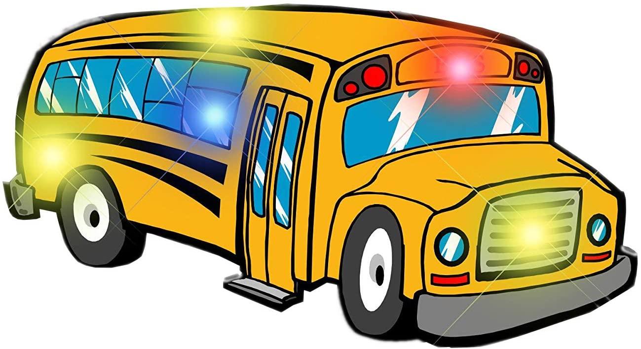 blinkee School Bus Flashing Body Light Lapel Pins