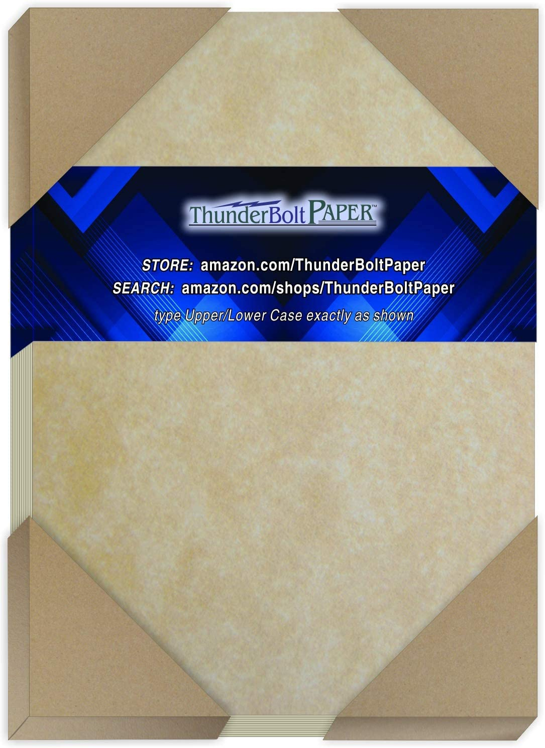 250 Old Age Parchment 65lb Cover Paper Sheets 4.25