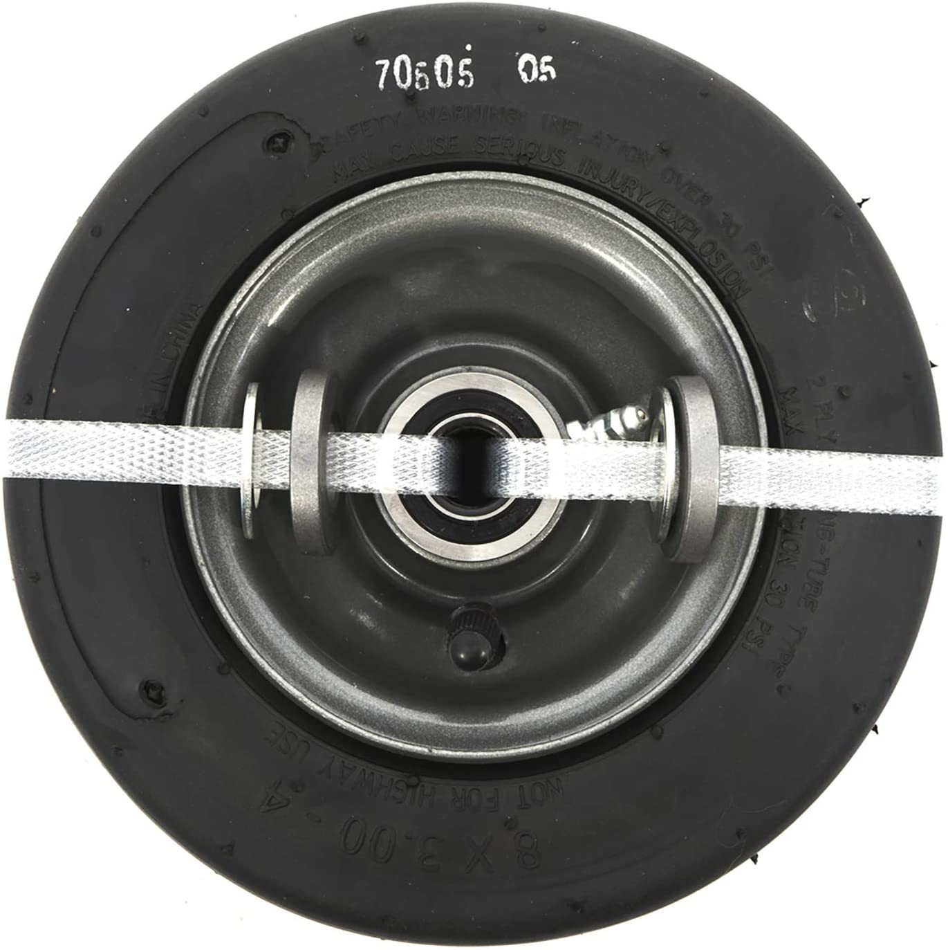 SureFit Front Pneumatic Mower Wheel Assembly Smooth Tread for Universal Zero-Turn Mowers 8x3-4
