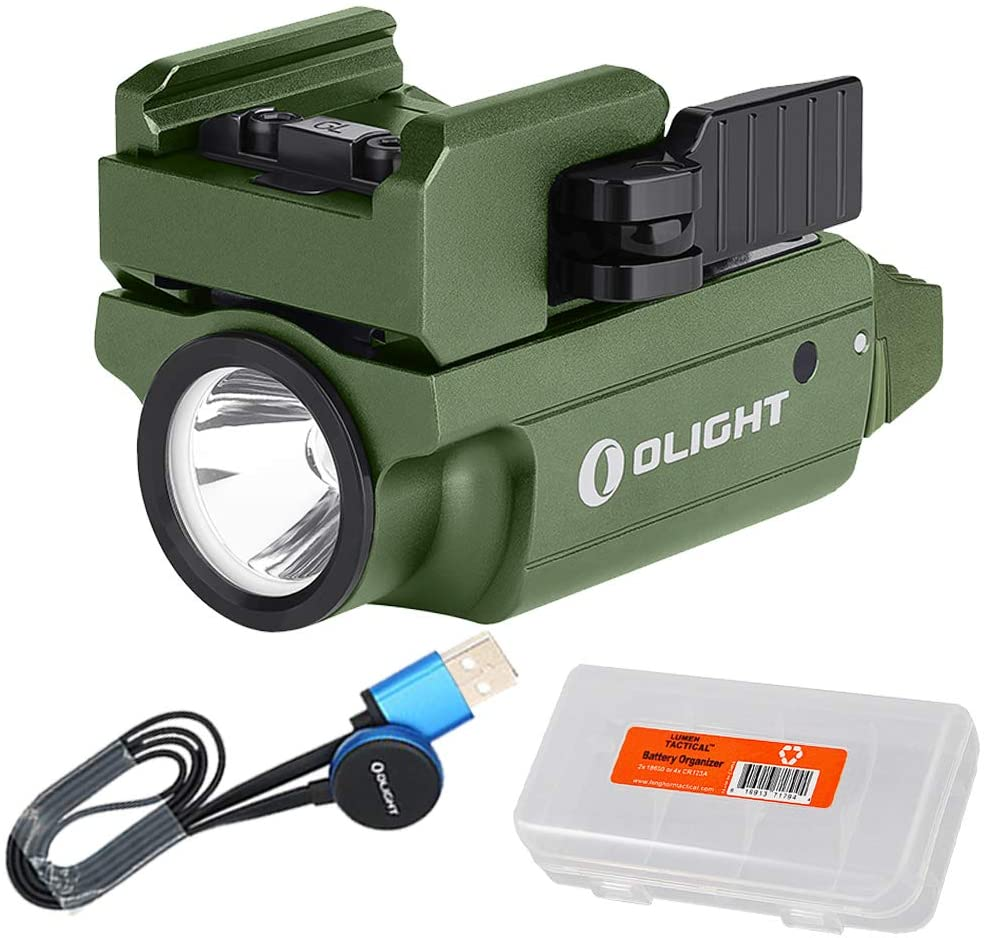 OLIGHT PL-Mini 2 Valkyrie 600 Lumen Magnetic USB Rechargeable Pistol Light Compatible with All Subcompact, Compact and Full Size Handguns with Rail