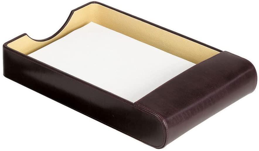Bellino Leather Desktop Paper Tray Bellino, Burgundy (7055.Burg)