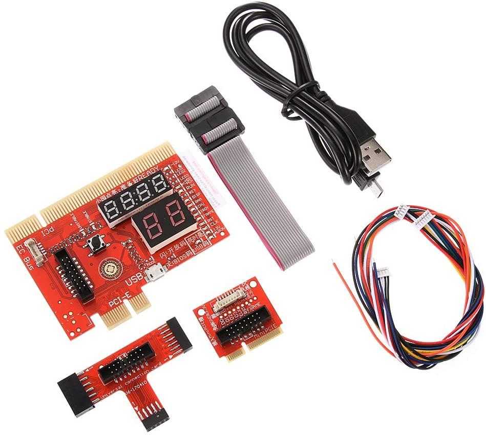 Laptop/Desktop PC Universal Diagnostic Card, Test Card Support for PCI PCI-E Mini PCI-E LPC