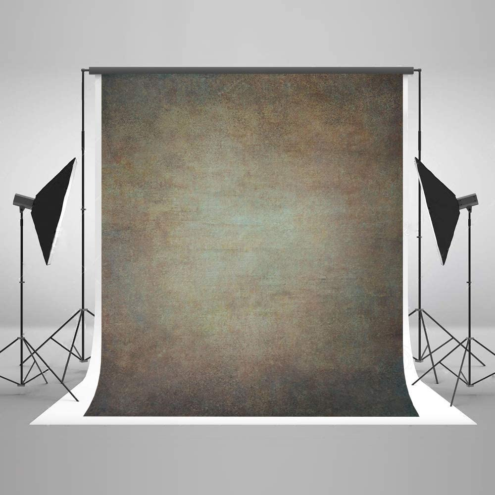 5ft(W) x7ft(H) Brown Orange Portrait Photo Backdrop Muslin Studio Abstract Grunge Background Gradient Photo Studio Booth Props for Photography Seamless Free Wrinkles