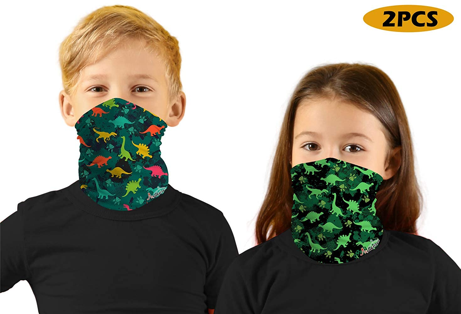 meakeize 2 PCS Kids Sibling Bandanas Face Mask UV Protectio Neck Gaiter Headband - Dust Block Balaclavas