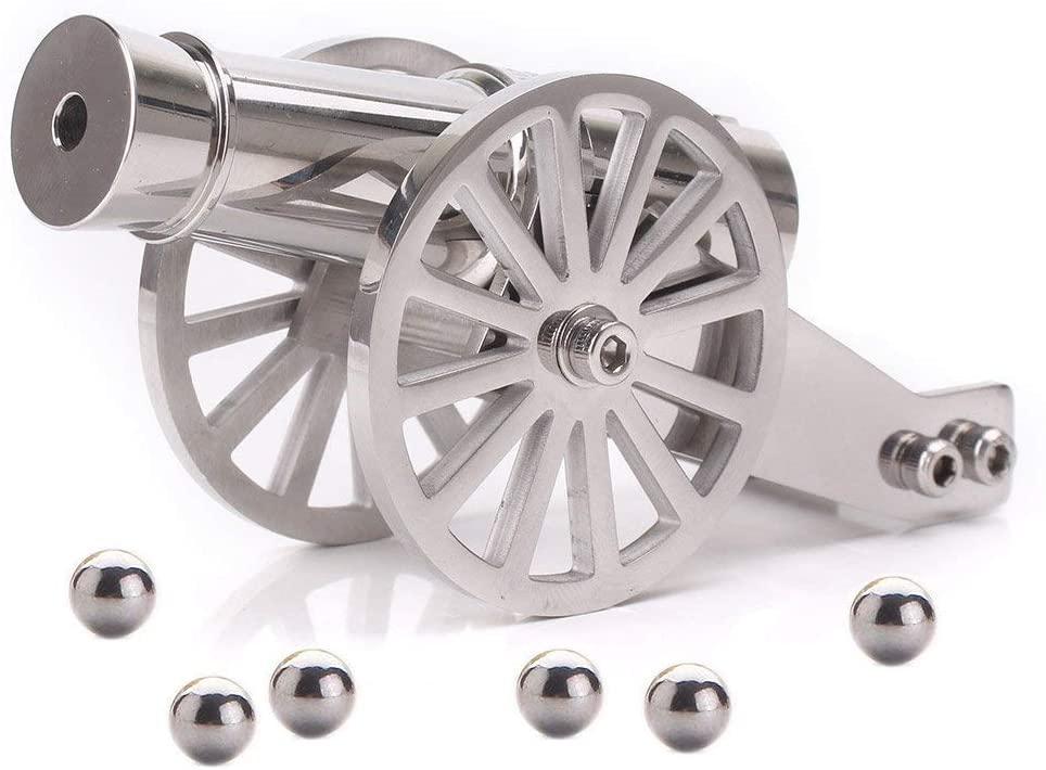 Firesofheaven Mini Napoleon Cannon Model Metal Replica Desktop Decorating and Collectibles