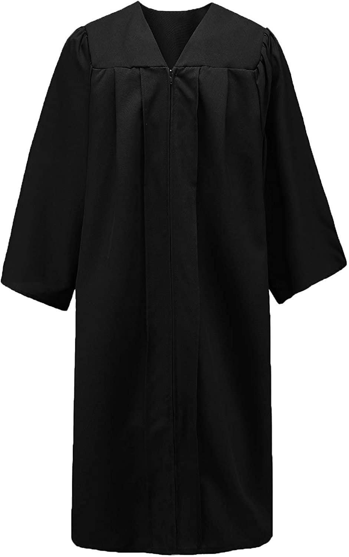 GraduationStudio Unisex Adult Matte Graduation Gown Only, Black Choir Robe