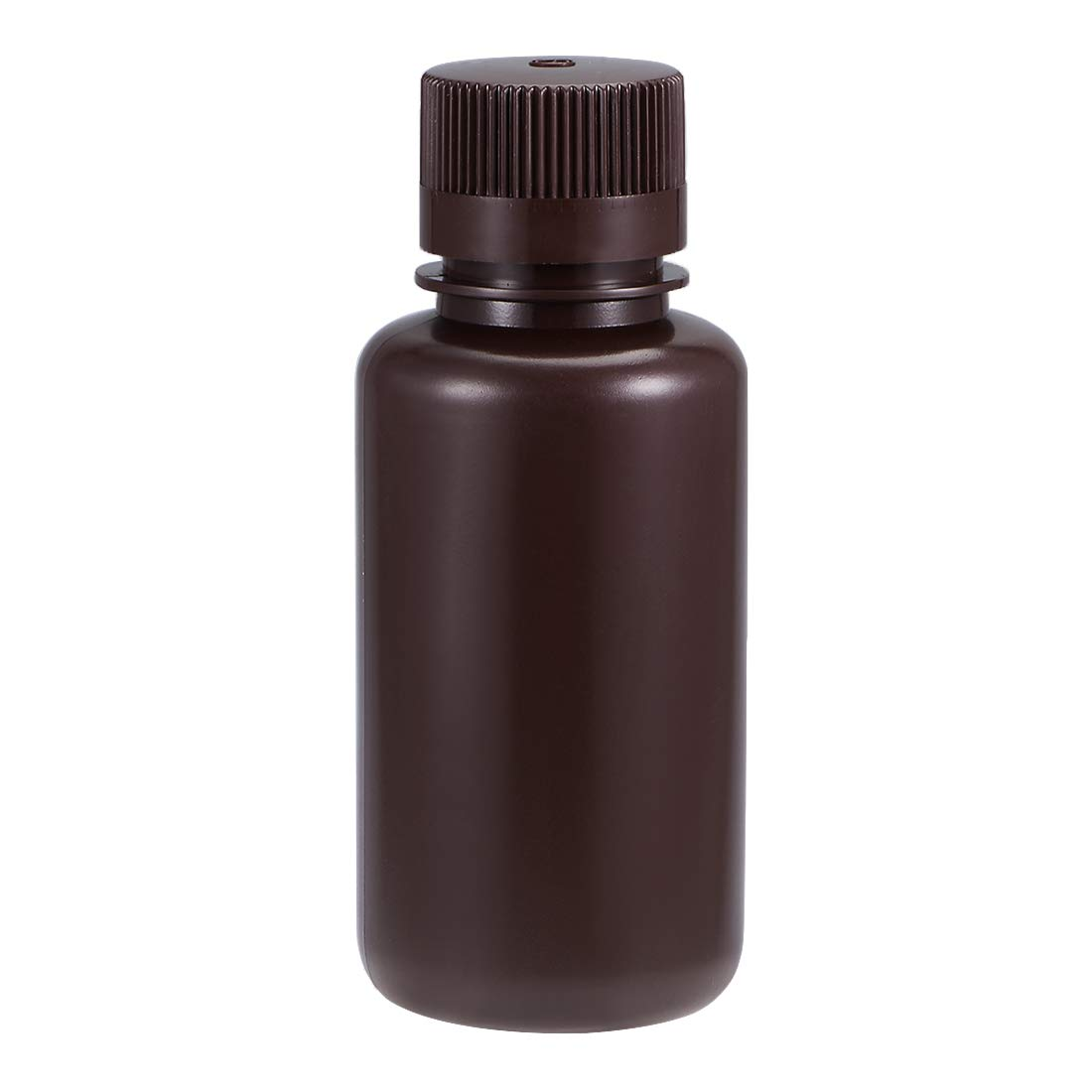 uxcell Plastic Lab Chemical Reagent Bottle 250ml/8.5oz Small Mouth Sample Sealing Liquid Storage Container Brown