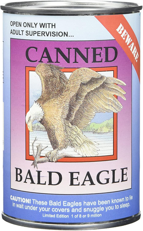 Canned Critters Stuffed Animal: Bald Eagle 6