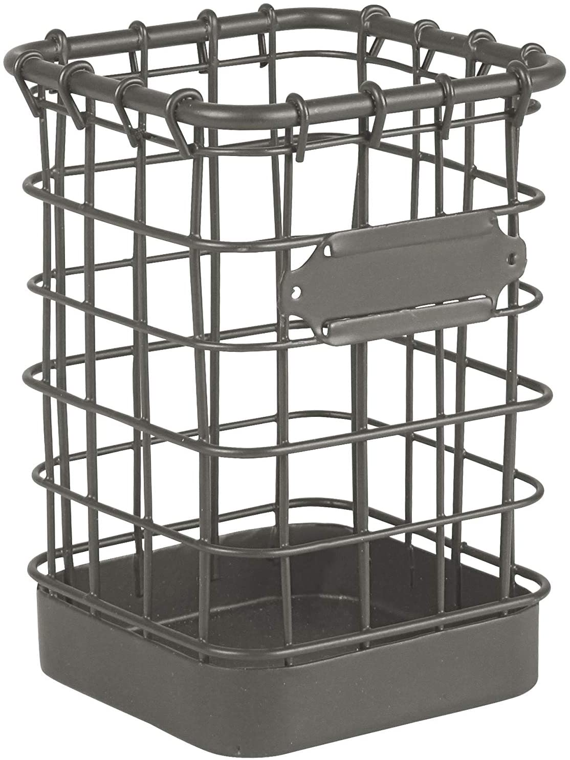 Spectrum Diversified Vintage Pencil & Utility Cup Desk Accessory Organizer, Industrial Gray