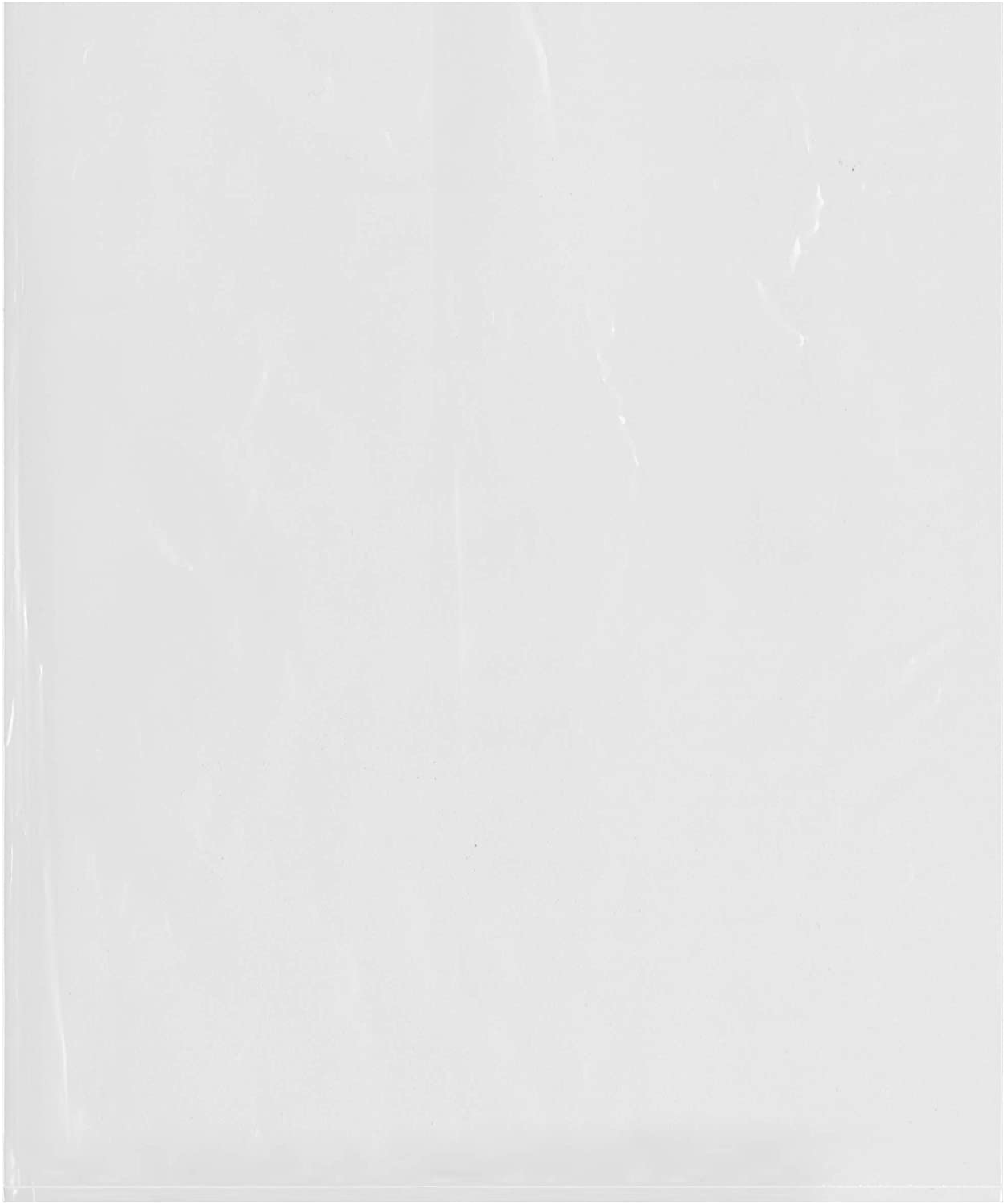 Plymor Flat Open Clear Plastic Poly Bags, 2 Mil, 15