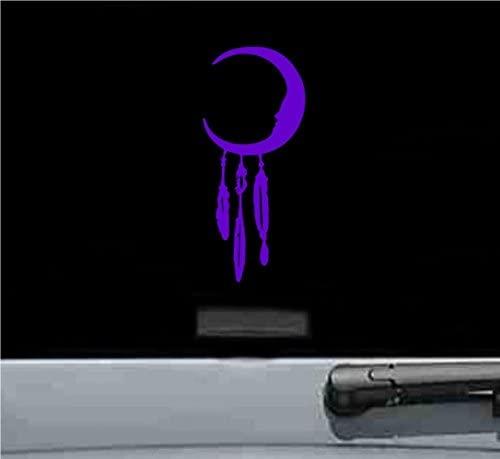JS Artworks Moon Dream Catcher Vinyl Decal Sticker (Purple)