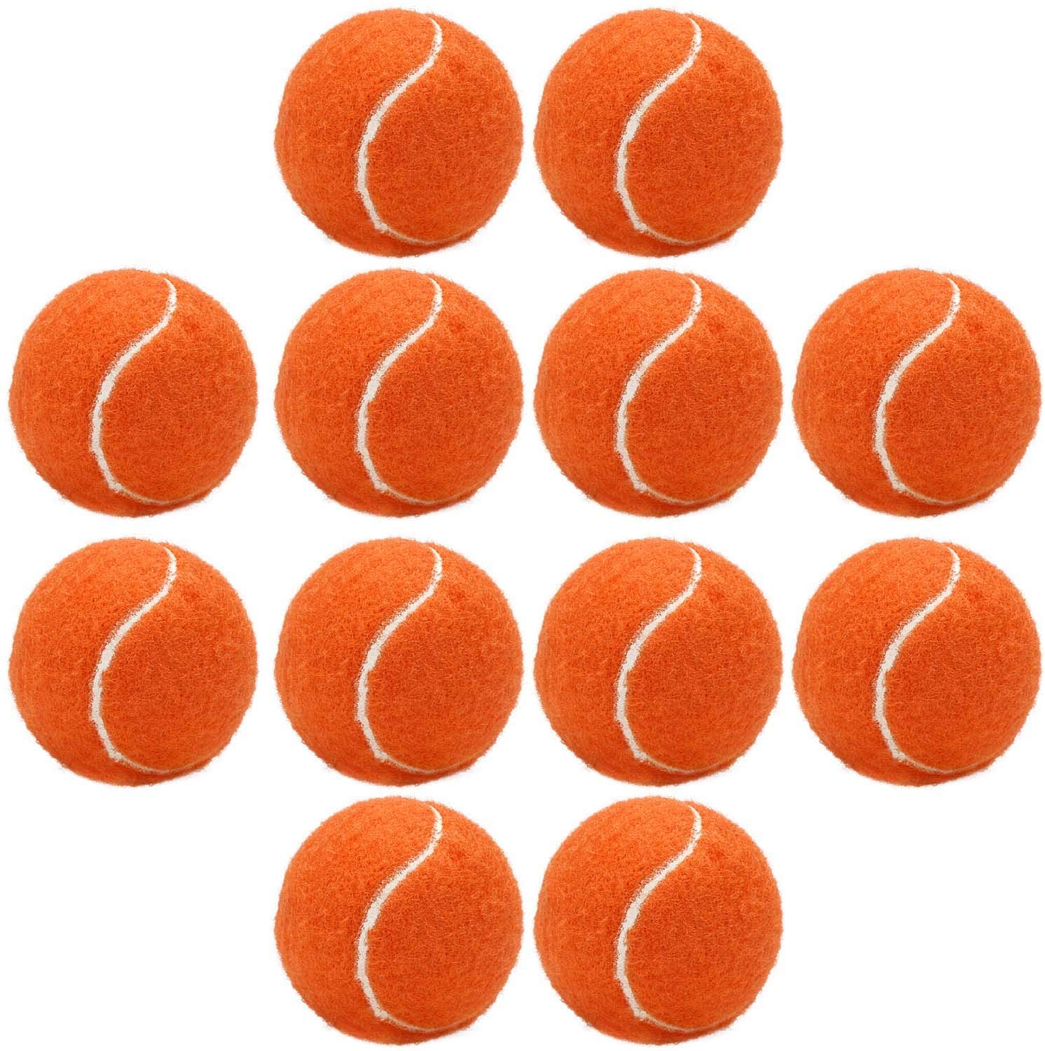 Segarty Tennis Balls for Dog, 12 Pack 2.5inch Premium Quality Orange Bouncy Ball Toy for Puppy Training, Play, Thrower, Outdoor Sports, Exercise & Fetch