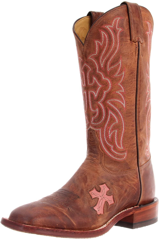 Tony Lama Boots Women's Chocolate Goat Cross TC1005L Boot