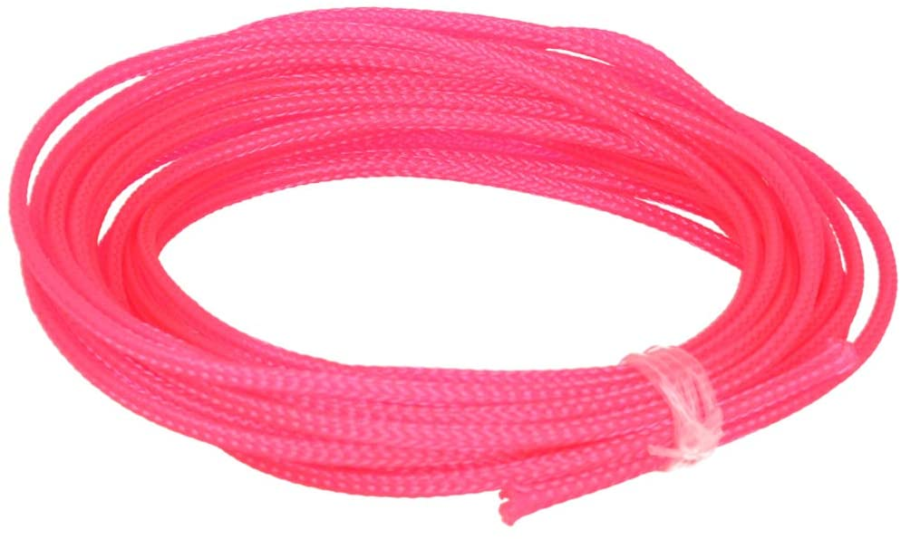 Othmro PET Braided Expandable Sleeving Wrap Pink 3mm x 5m Cable Management Sleeve Cord Organizer for Wrap Protect Cables