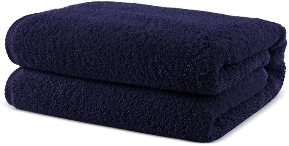 Towel Bazaar 100% Turkish Cotton Multipurpose Towels-Large Bath Sheet/Beach Towel/Bath Towel, Eco-Friendly (Oversized 40x80 inches, Navy Blue)…