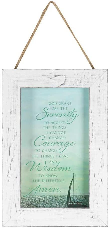 Dicksons Serenity Prayer on Calm Sea 9 x 13 Wood Framed Wall Art Sign Plaque