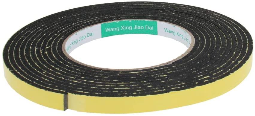 Othmro Sealing Foam Tape Self Adhesive Shockproof Sponge Foam Tape Self-Stick Rubber Weather seal 3mm Thick 10mm Wide 4 Meters Length 1pcs