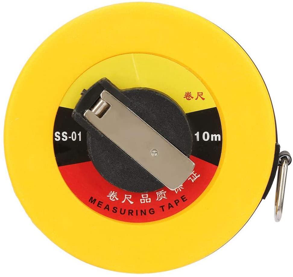 Fiberglass Tape Measure Ergonomic Professional Site Measurement Construction Roads Measuring Tool(10m)