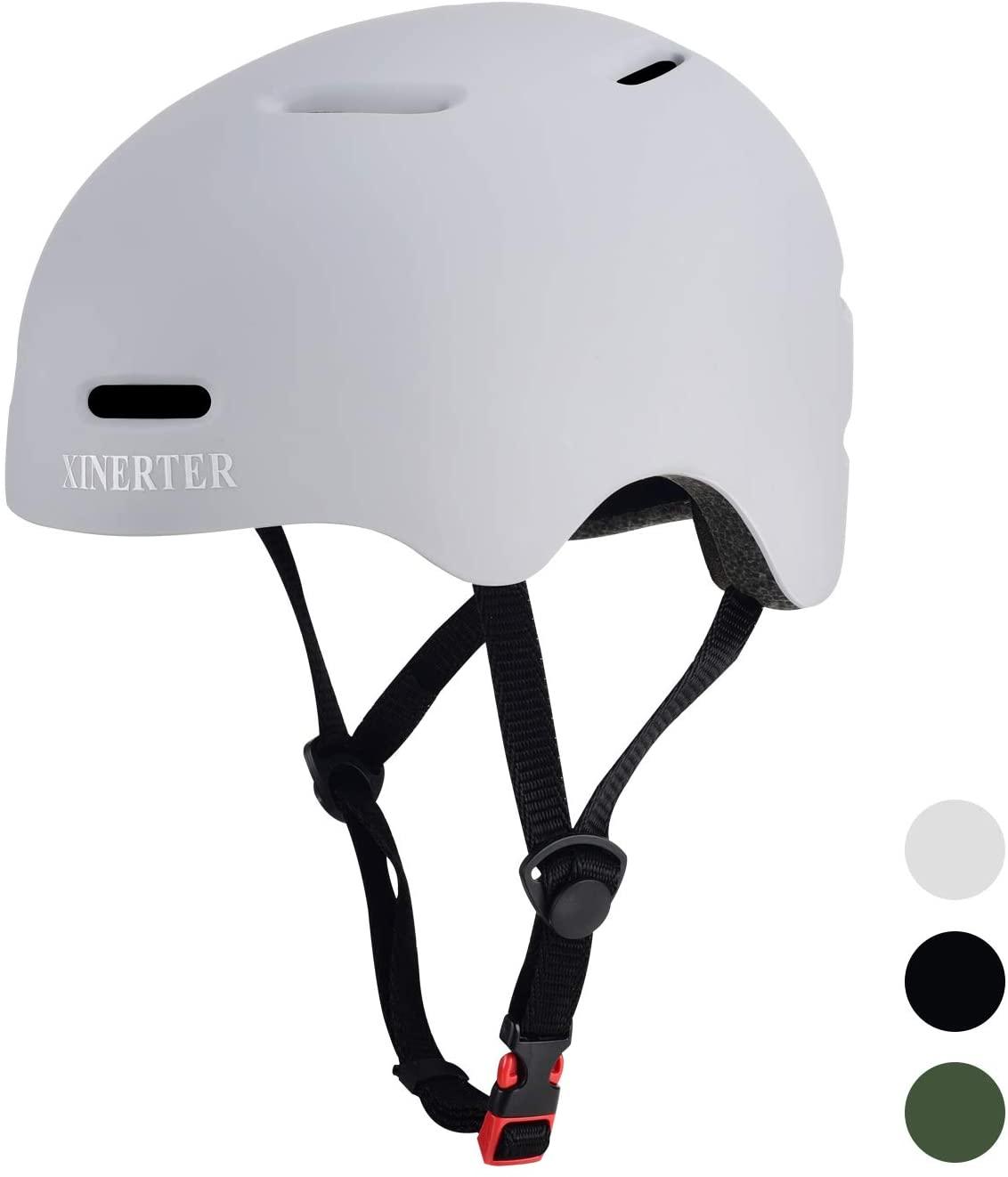 Skateboard Helmet Kids Bike Helmet BMX Helmet, Multi- Sport Helmet with 1 Sets of Replaceable Pads, Bike Helmet for Kids, Youth, Men, Women Applicable Head Type 19.6-22.4 in