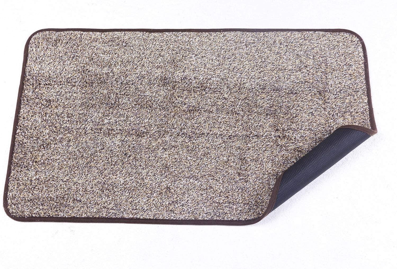 Door mat (18 x 30) Indoor Outdoor Super Absorbs Mud Doormat Non Slip No Odor TPR Back (Eco-Friendly Safe Materials) Easy Clean Cotton Kitchen Mat Pet Dog Mat (30