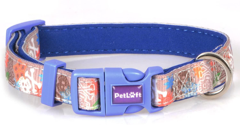 PETLOFT Dog Collar, [Nature Series] Adjustable Nylon Collars for Dogs in Various Patterns