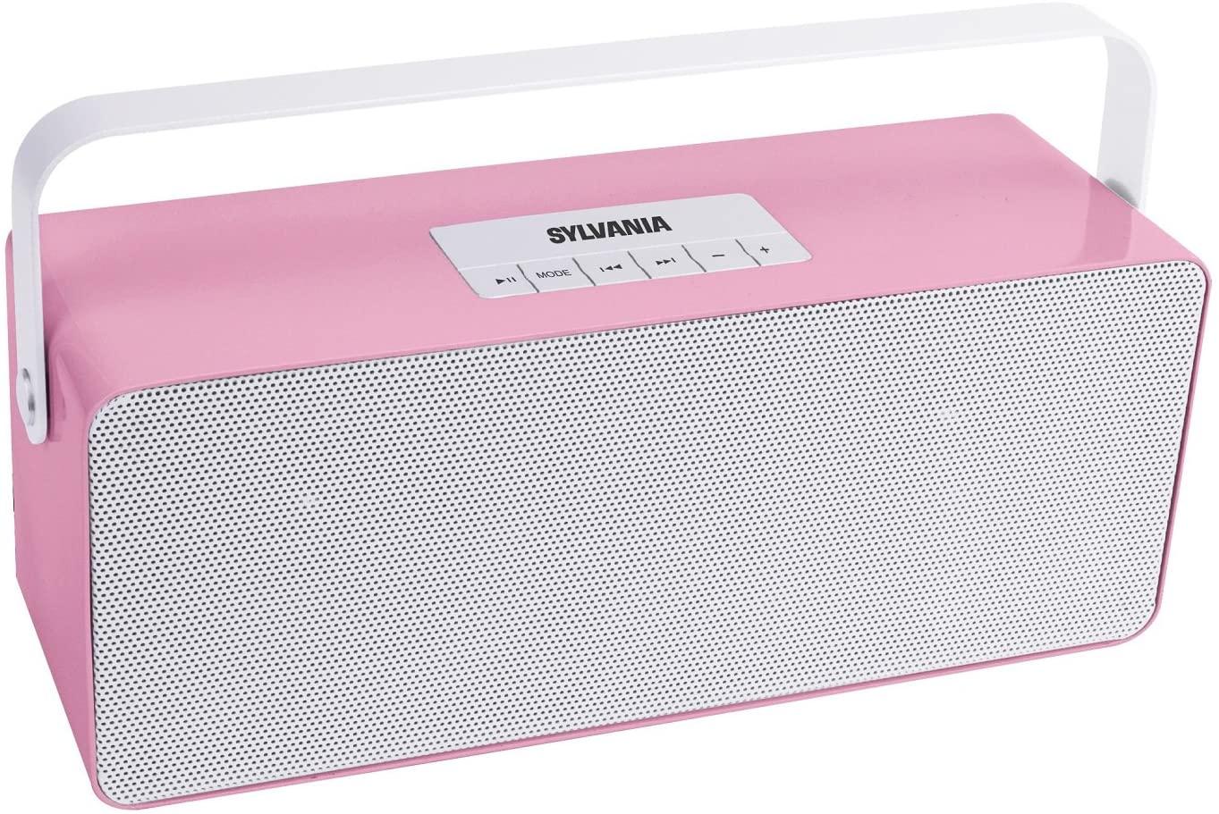 Sylvania SP672 Portable Bluetooth Speaker with Aluminium Handle (Pink)