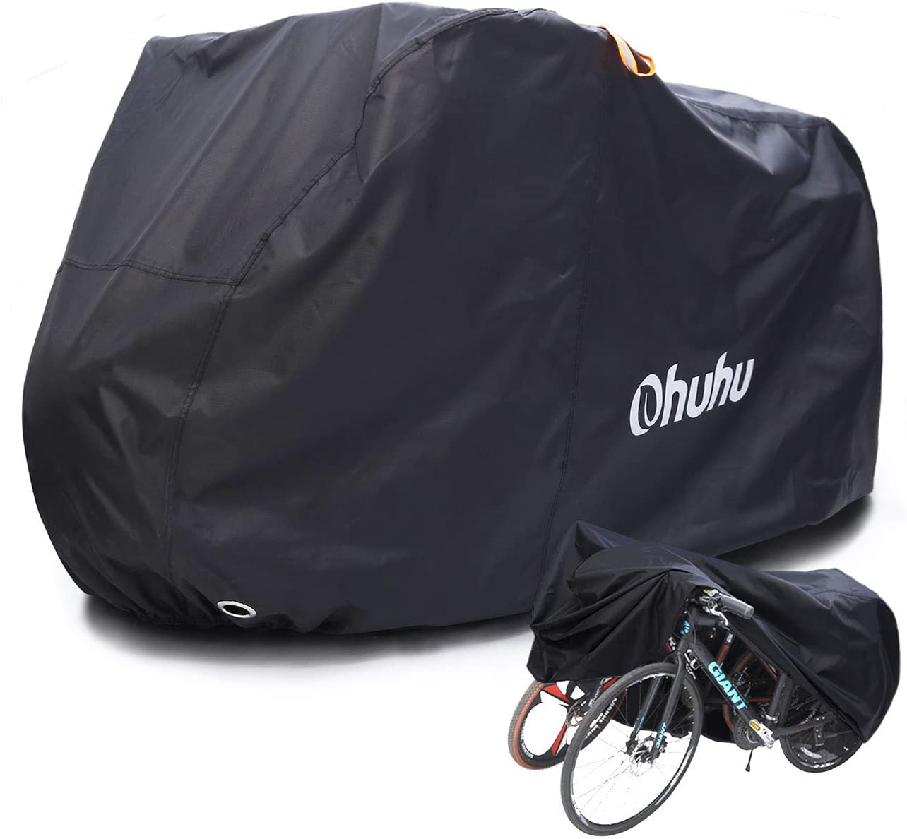 Ohuhu Bike Cover Waterproof XL/XXL for 2 or 3 Bikes Outdoor Storage Windproof Bicycle Covers for Mountain Bike Road Bike