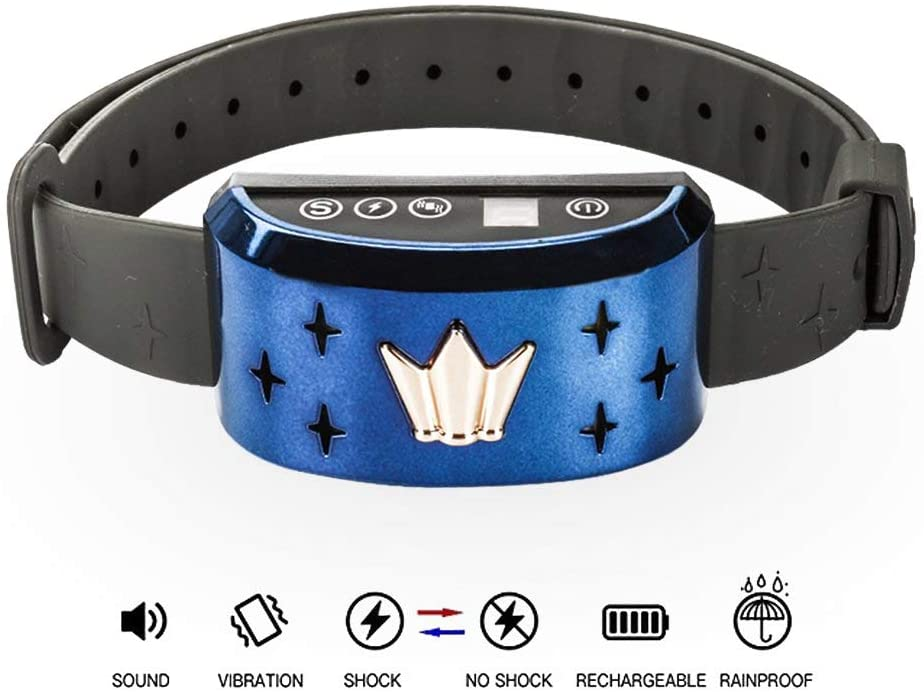 CHAUDER Anti Bark Collar for Small Dog Large Dog – Safe No Bark Collar, Rechargeable, Waterproof with Intelligent Vibration, Beep and Static Shock Training Mode