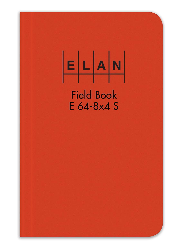 Elan Publishing Company E64-8x4S Sewn Field Surveying Book 4 5/8 x 7 1/4 Orange Stiff Cover (Pack of 24)