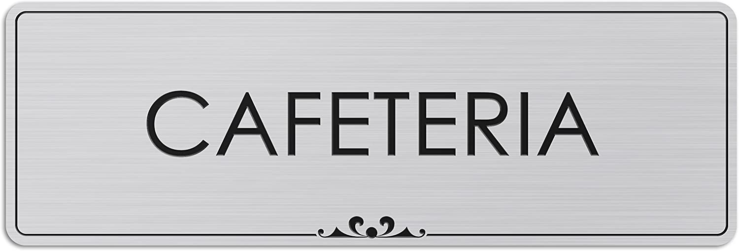 Cafeteria - Laser Engraved Sign - 3